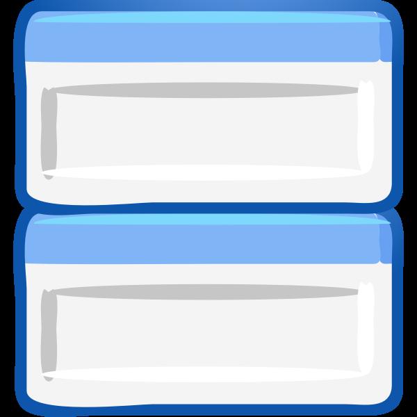 Computer windows tiled icon vector image