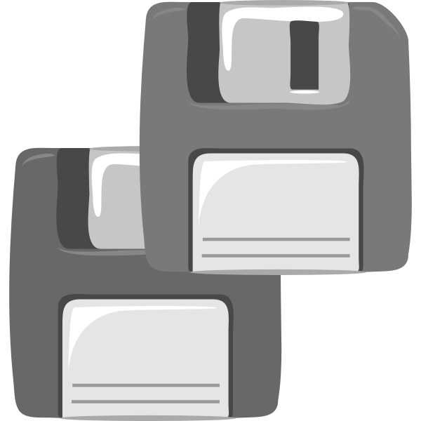 Vector clip art of two computer diskettes