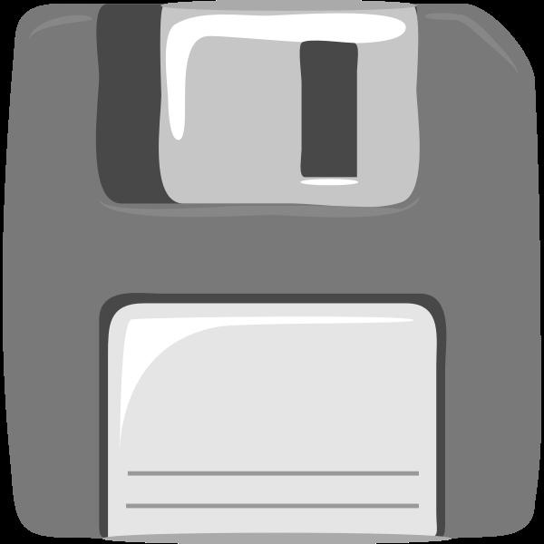 Gray computer diskette vector clip art