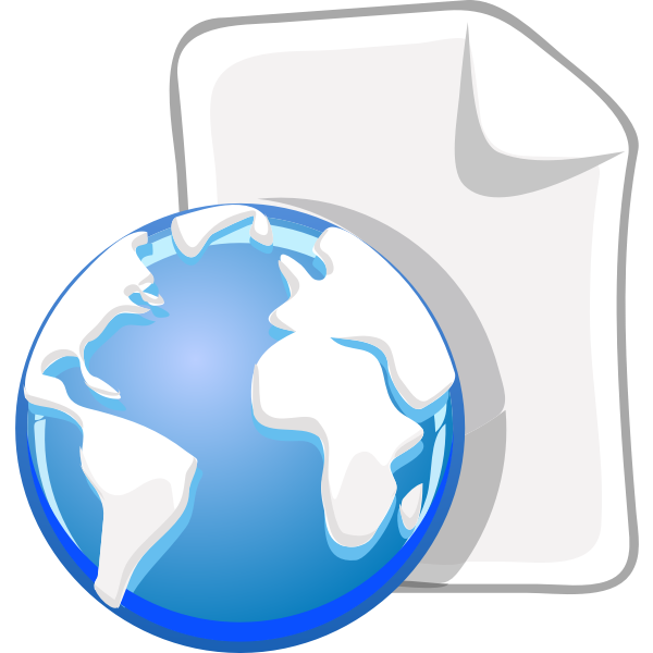 World wide document icon vector graphics
