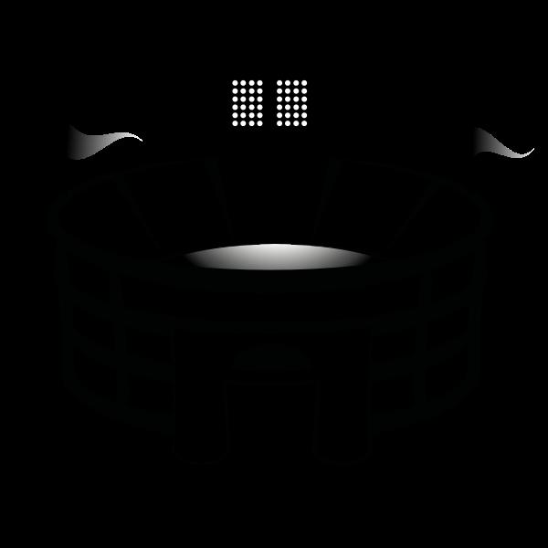 Football arena vector drawing