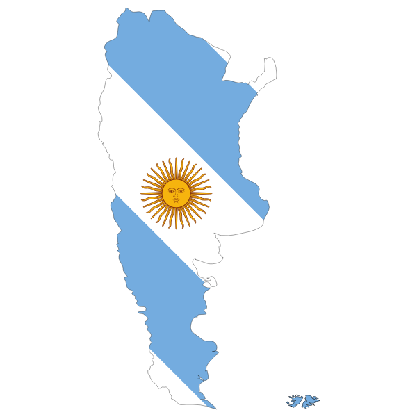 Argentina's map with lag