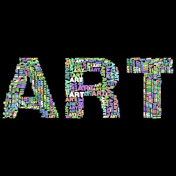 Art Fractal Typography No Background