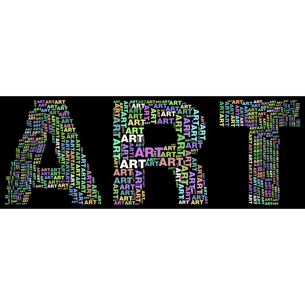 Art Fractal Typography