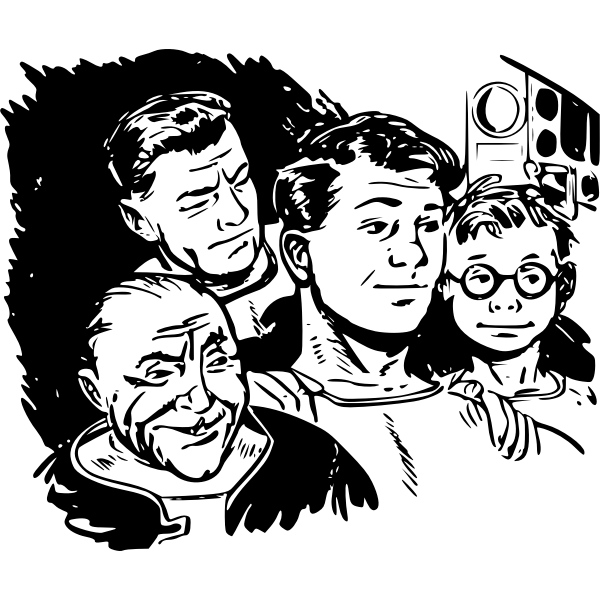 Danger in Deep Space vector illustration