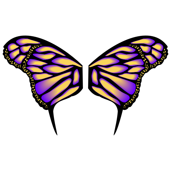 Gradient butterfly image
