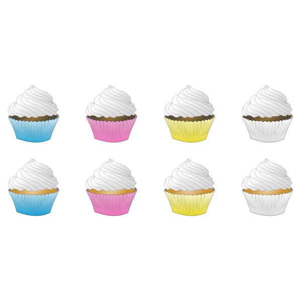 White frosted cupcakes