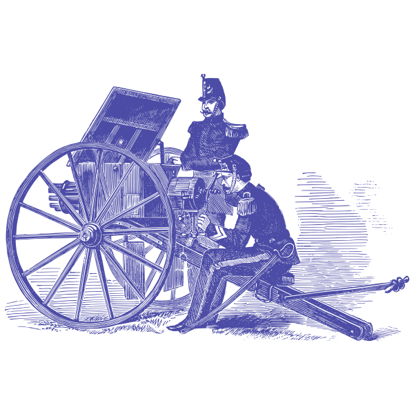 Cannon and soldiers