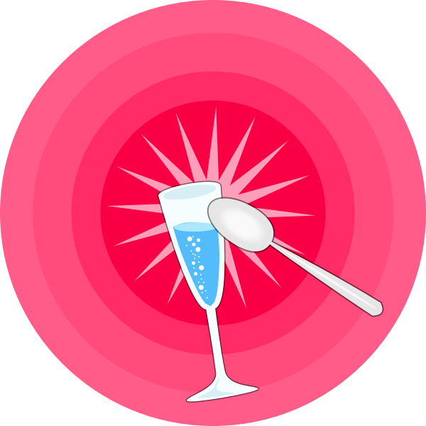 Party glass, plate and spoon vector image
