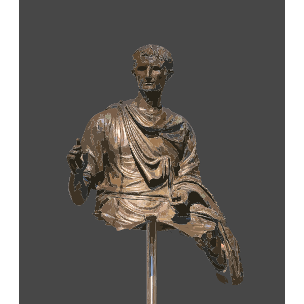 Augustus Bronze Statue