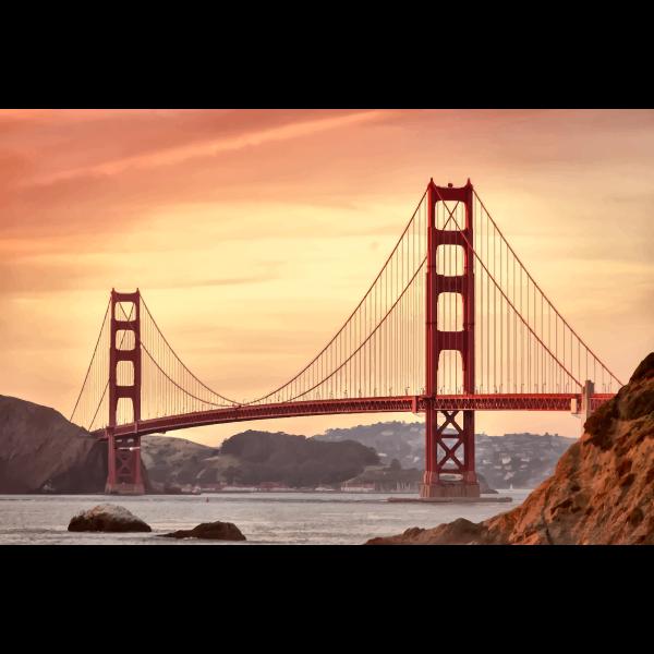 San Francisco Golden Gate bridge vector image