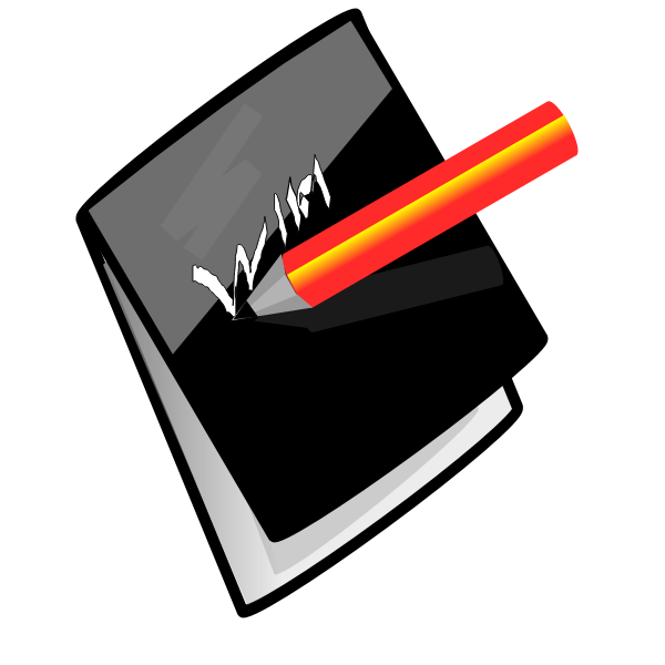 Pencil and note pad  vector image