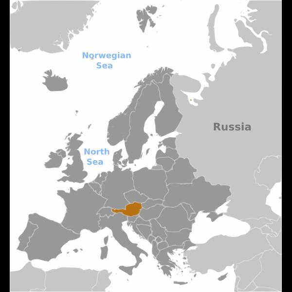 Austria location label