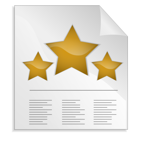 Three stars letter vector image