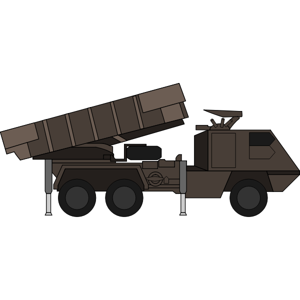 Army truck with weapon