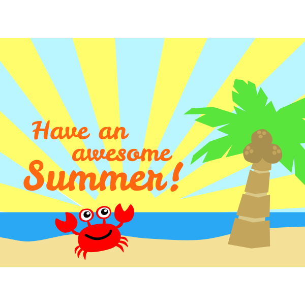 Awesome summer vector illustration