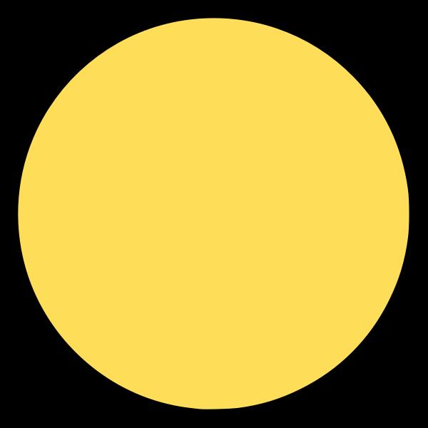 Empty smiley circle vector image
