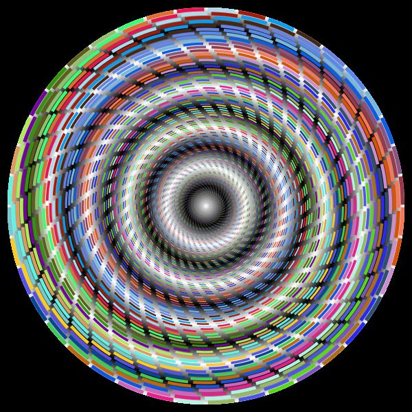 Vortex in colorful lines