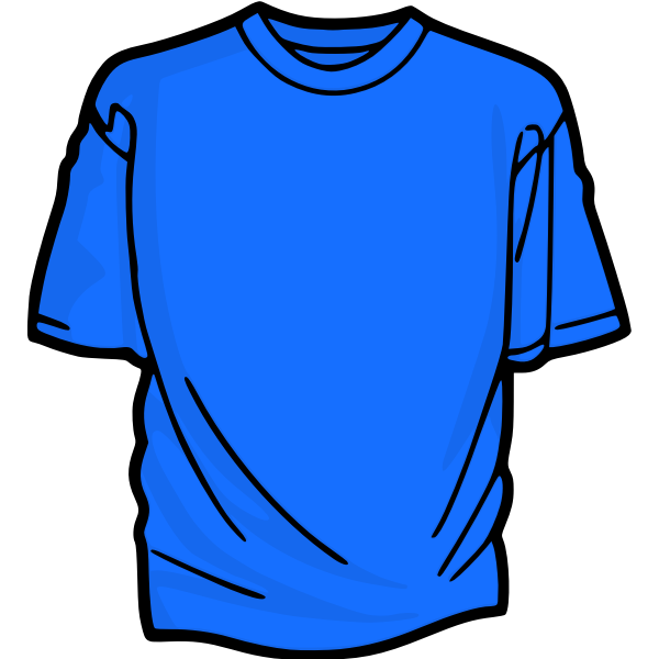 Blue t-shirt vector clip art
