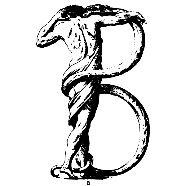 Arty letter ''B''