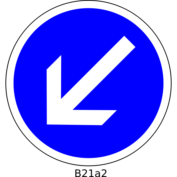 To the left direction only road sign vector image