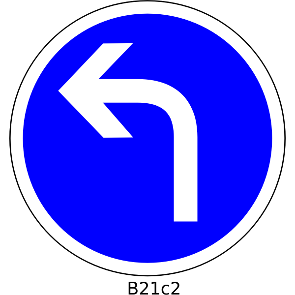 Direction left only road sign vector image