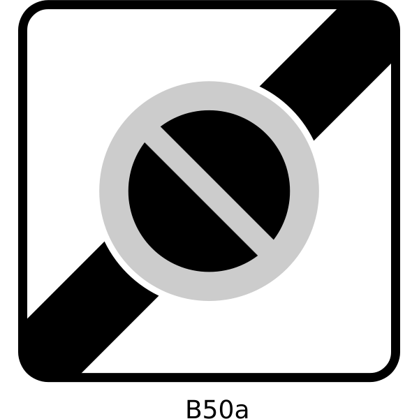 End of controlled parking zone traffic sign vector image