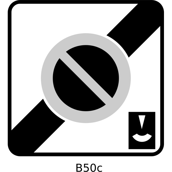 End of controlled parking zone with meter traffic sign vector image