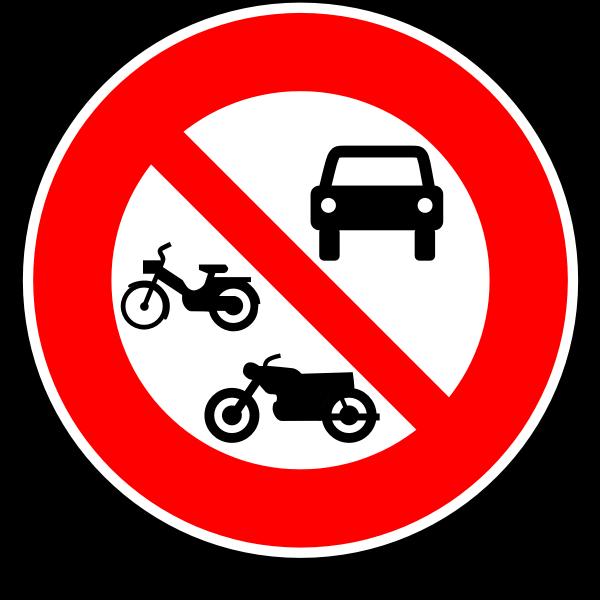 No motor vehicles road sign vector image
