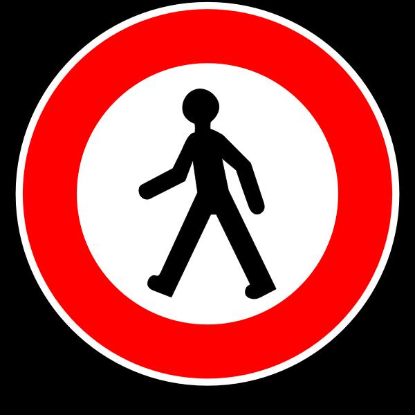 No walking road sign vector image