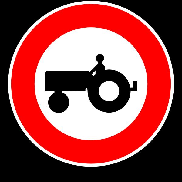 No tractors road sign vector image