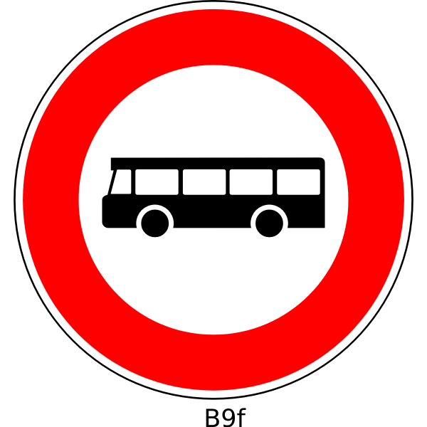 No buses road sign vector image