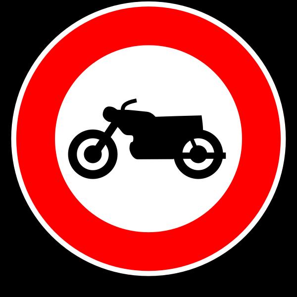 No motorcycles road sign vector image
