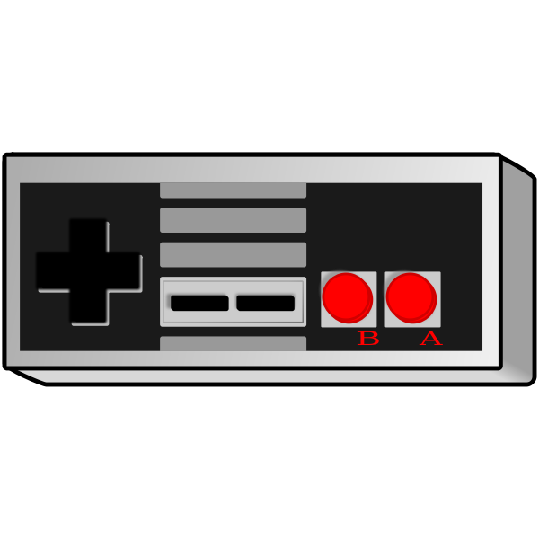 Old school game controller vector graphics