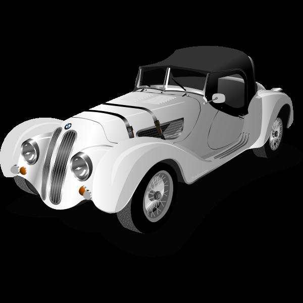 Photo-realistic vintage car vector