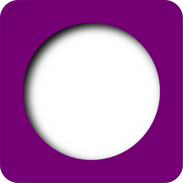 Vector graphics of purple rounded edges border with circular frame inside