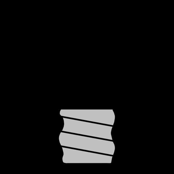 Silhouette vector illustration of lightbulb off