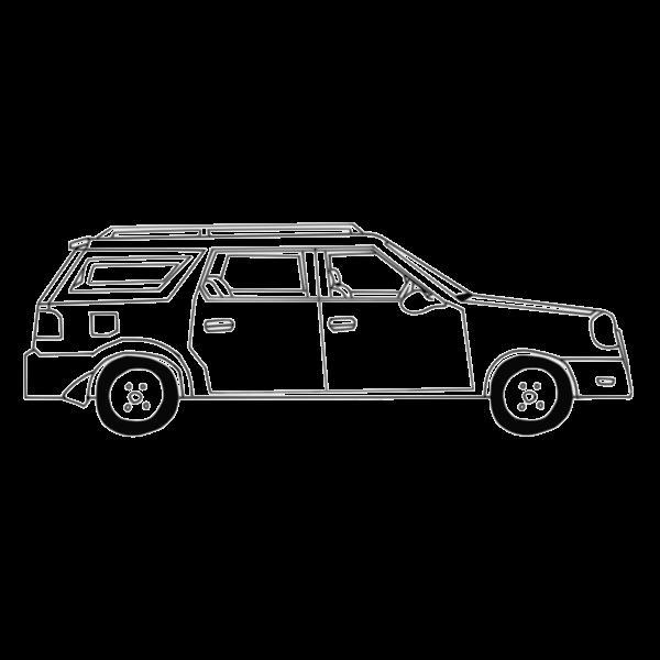 A hatchback car vector graphics illustration