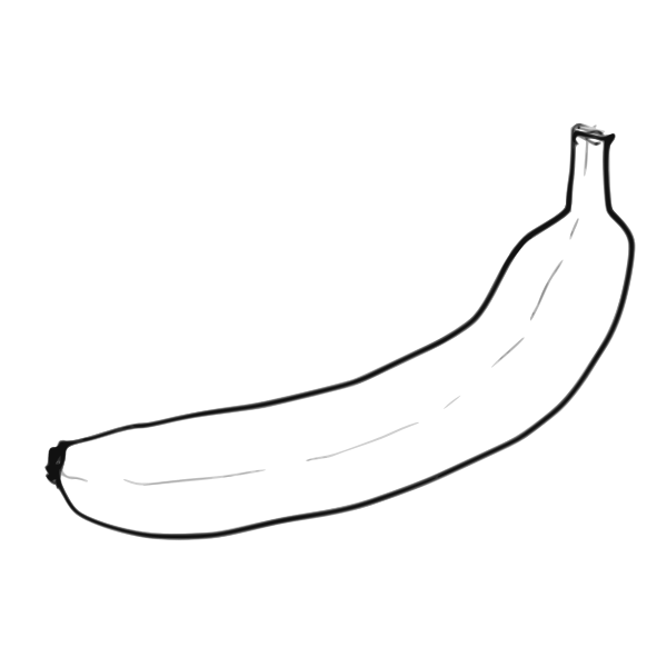 Line art banana