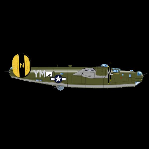 B-24 Bomber plane vector image