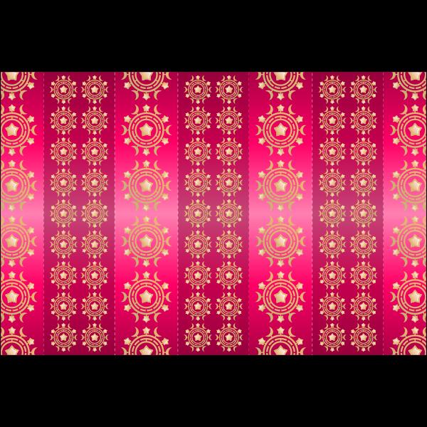 Dark pink traditional wallpaper