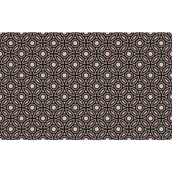 Background pattern with overlapping circles vector image