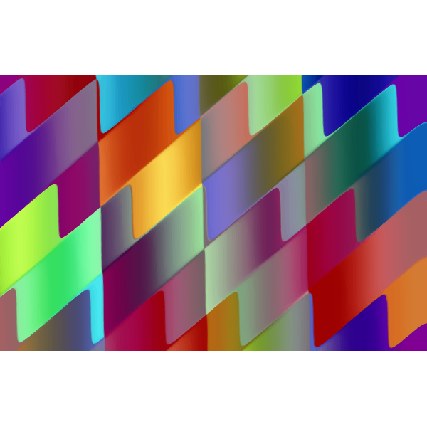 Colorful stripy and wavy lines