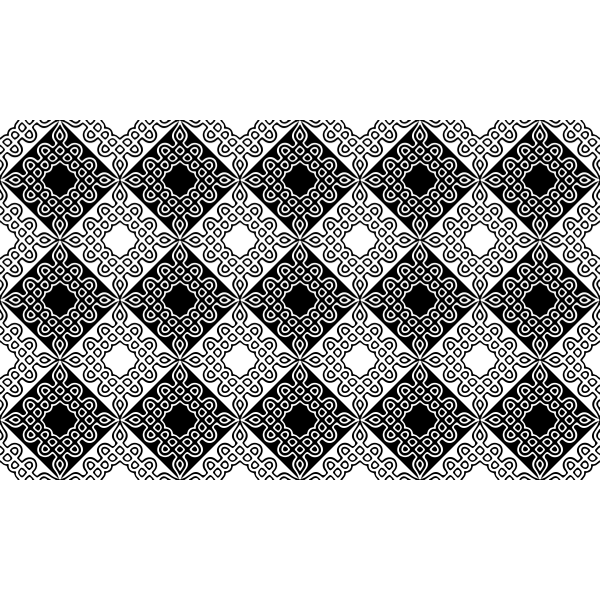 Black and white patterned tiles