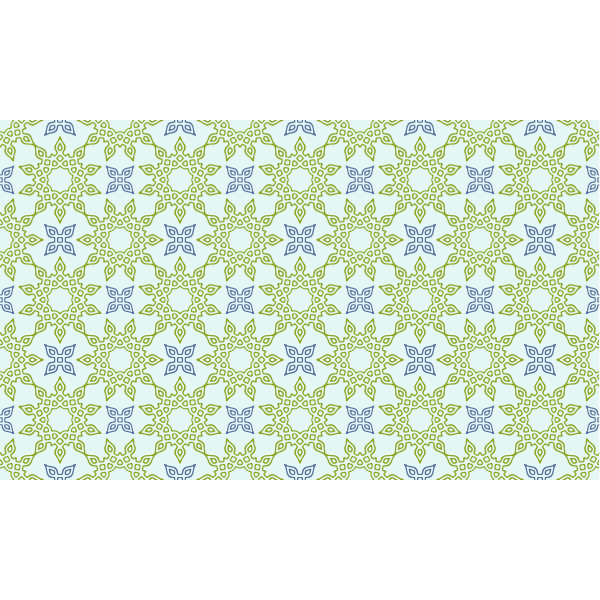 Designer pattern in green and blue