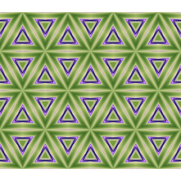 Green and violet triangular pattern