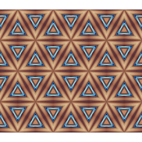 Brown background with blue triangles