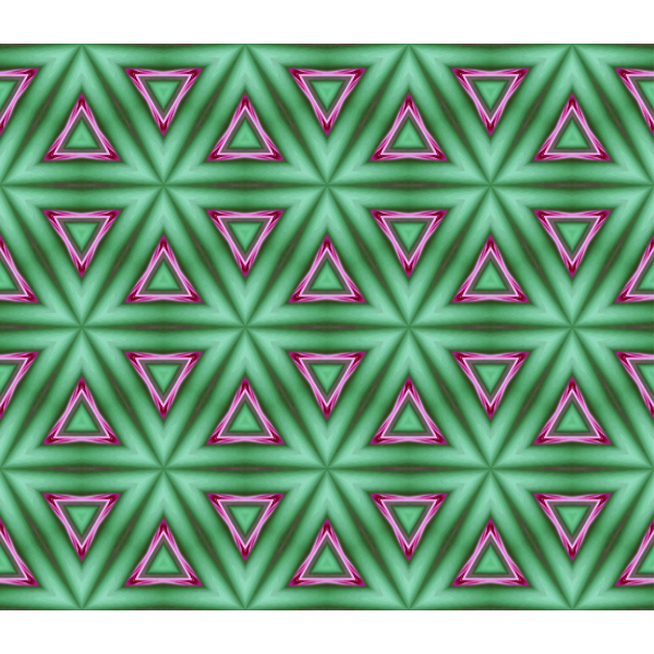 Green wallpaper with pink triangles