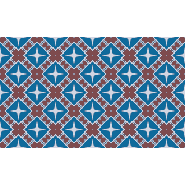 Retro pattern in red and blue