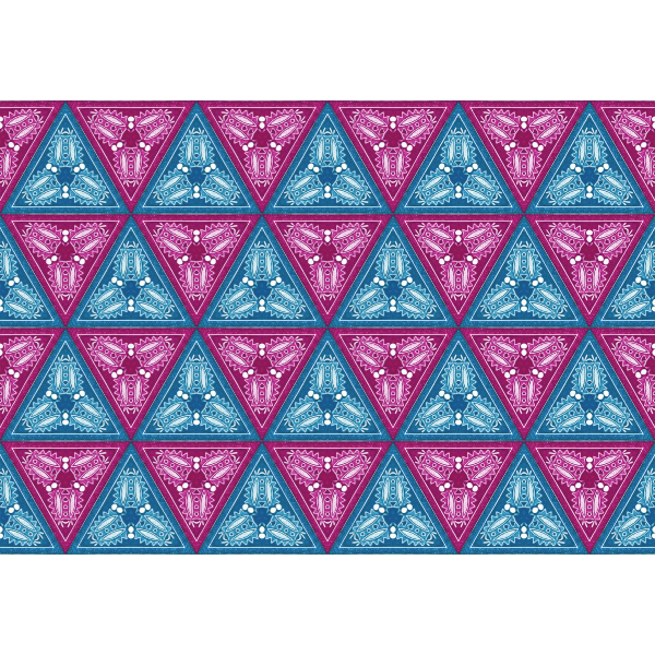 Triangular colorful pattern vector image